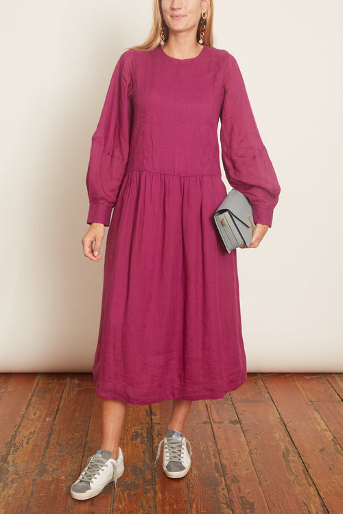 Geneva Midi Dress in Amethyst