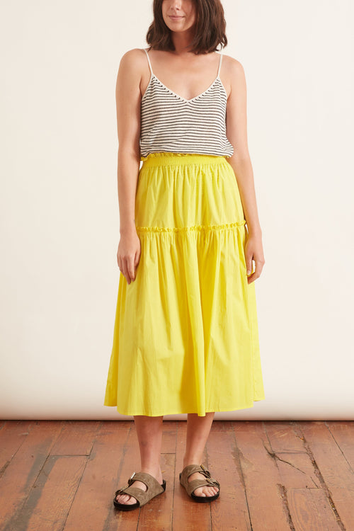Tabitha Smocked Skirt in Citron