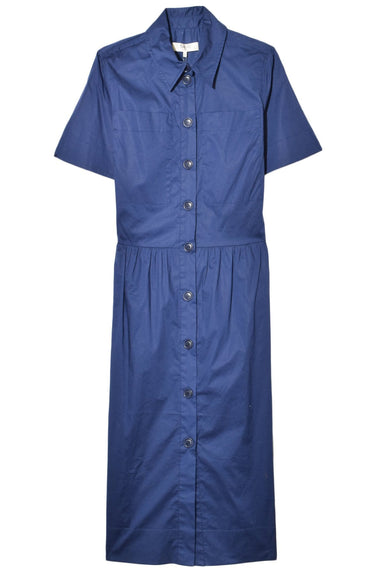 Clara Shirt Dress in Blue