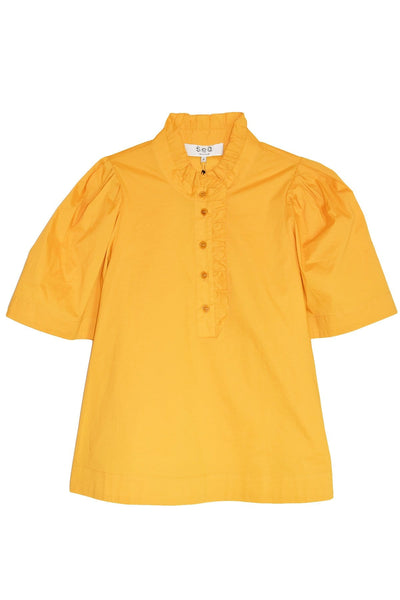 Clara Short Sleeve Top in Maize