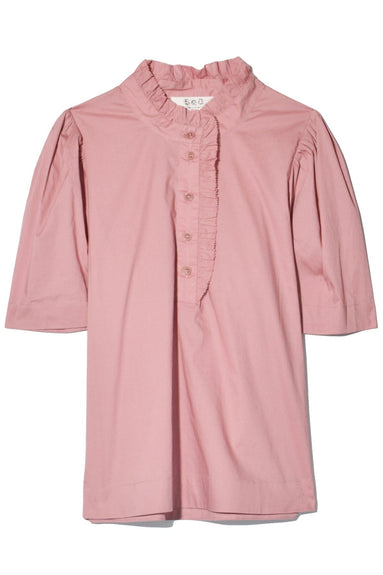 Clara Short Sleeve Top in Rose