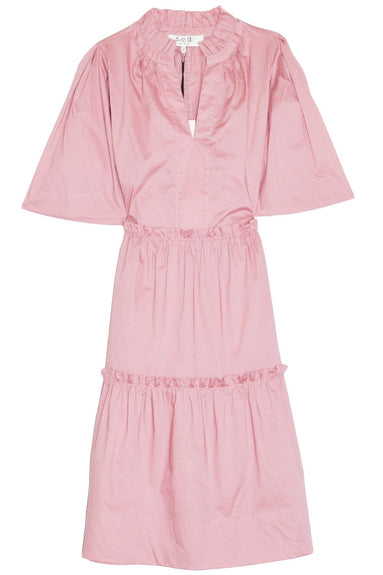Clara Tiered Dress in Rose