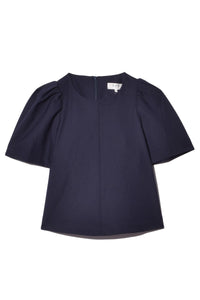 Hayes Puff Sleeve Top in Navy