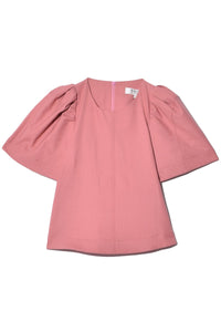 Hayes Puff Sleeve Top in Rose