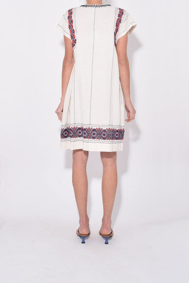 Leah Tunic Dress in Cream Multi
