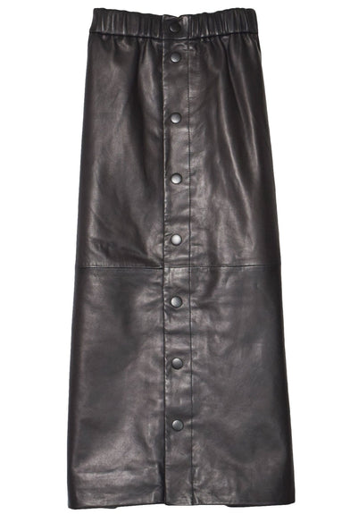 Lydia Leather Skirt in Black