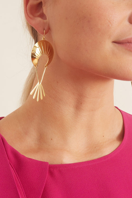 Pavia Earrings in 14k Gold Plate