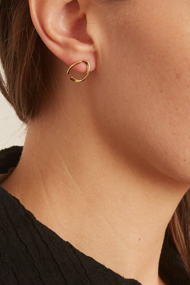 Wave Studs in 14k Gold Vermeil