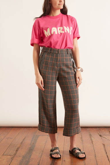 Dacil Pant in Brown Plaid