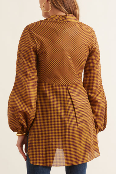 Drever Blouse in Natural Check