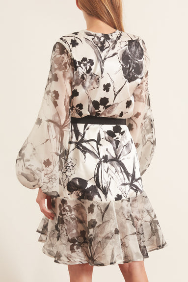Galena Dress in Ivory Floral