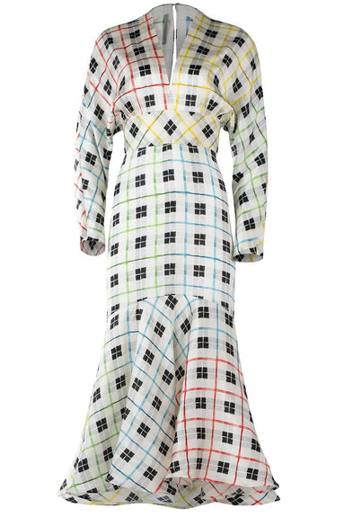 Angelena Dress in Rainbow Checked