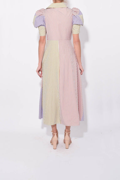 Bethany Dress in Colorblock Stripes