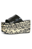 Blackout Platform Espadrille in Black