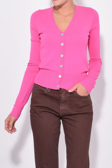 Chiz Cardigan in Fuschia