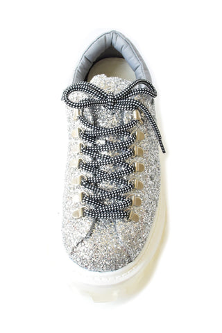 Low Tracker Boot in Silver Glitter
