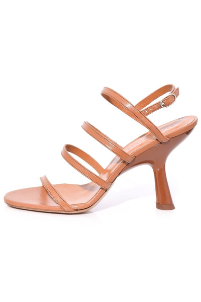Strappy Tee Heel in Toffee