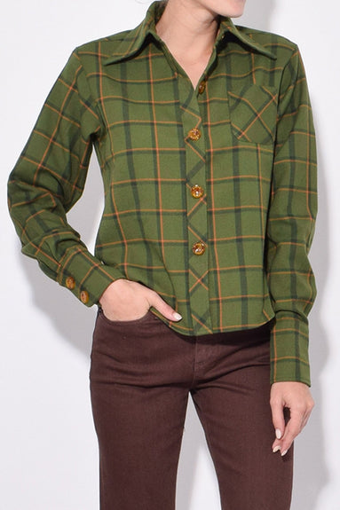 Wika Shirt in Forest Plaid