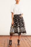 Drop Pocket Skirt in Black