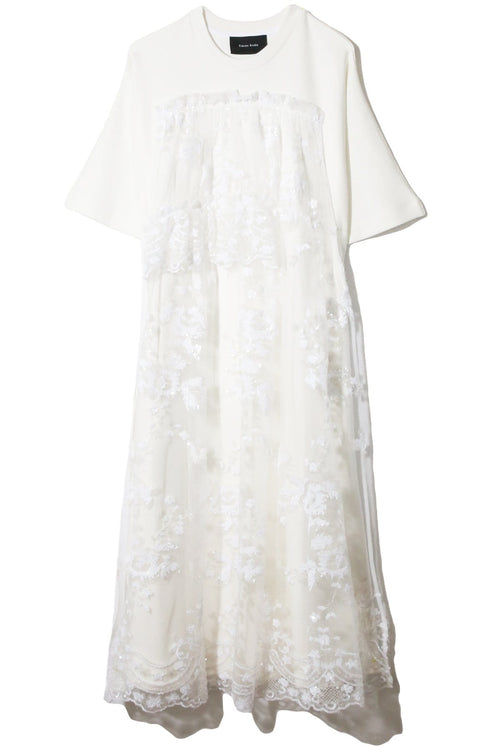 Apron Front A-Line Dress in Ivory