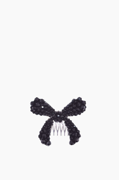 Large Bow Hair Clip in Jet