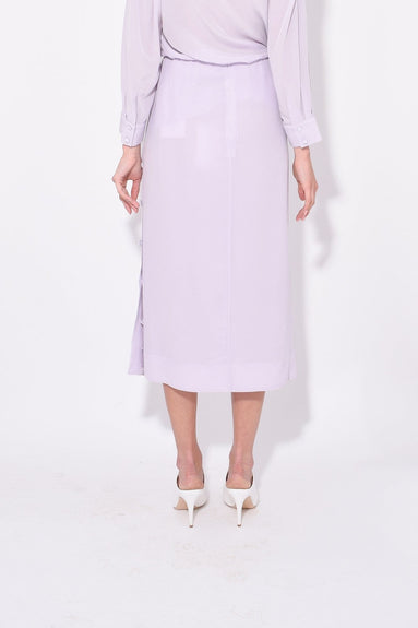 Pencil Skirt with Side Placket in Lilac