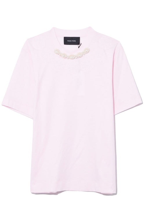 Puffy Pearl Classic Beaded Boy Tee in Pink/Pearl