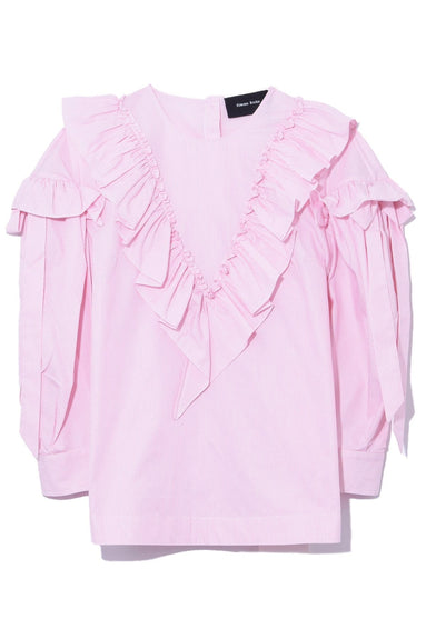 Ruffle Bow Top in Pink