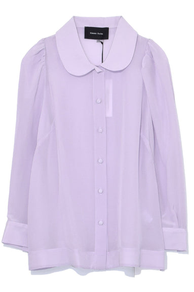 Silk Crepe de Chine Shirt in Lilac
