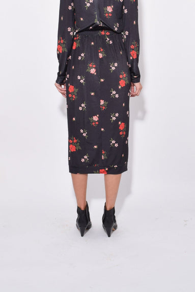 Tulip Skirt in Dark Flower