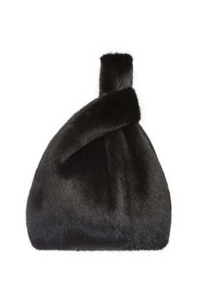 Furrissima Mink Bag in Black