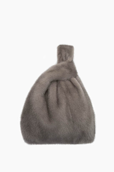 Furrissima Mink Bag in Smoke Grey