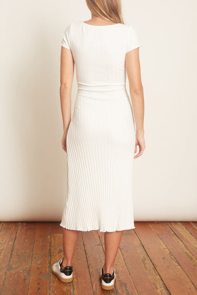 Andros Scoop Neck Dress in Macadamia