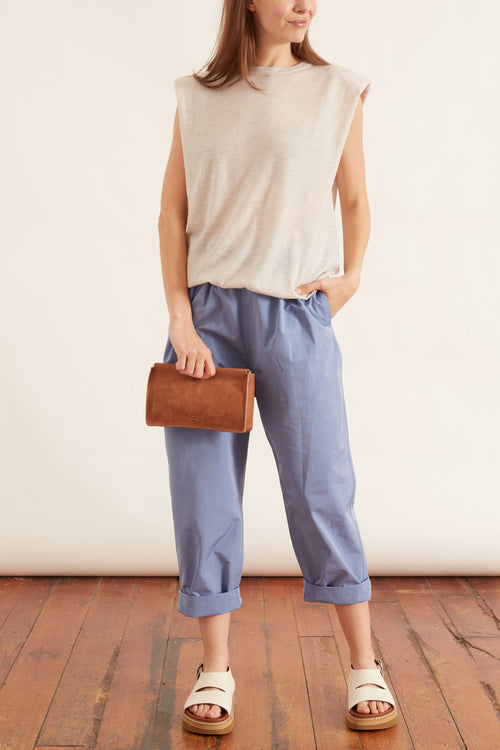 New Paloma Pleated Casual Pant in Sky
