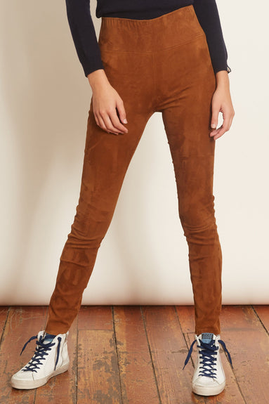 High Waist Ankle Legging in Coconut