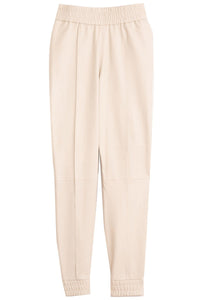 Athletic Jogger with Cuff in Cream