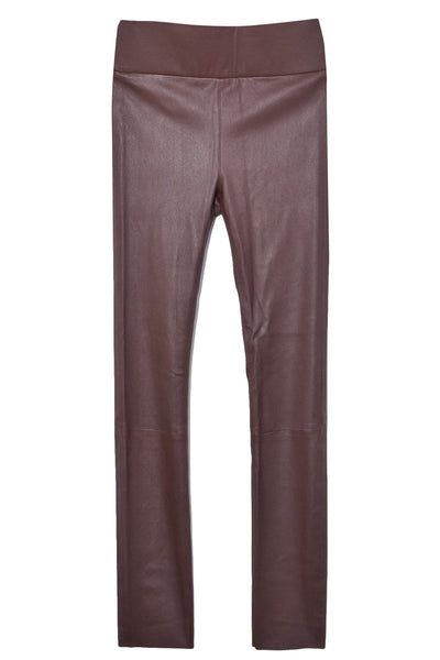 High Waist Ankle Legging in Chocolate