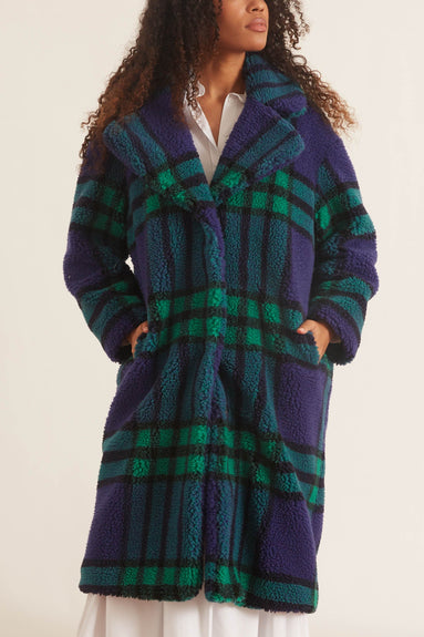 Camilla Coat in Blue/Green