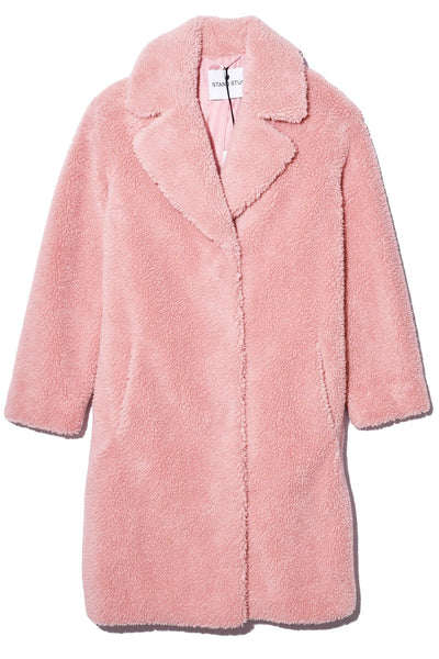 Camille Cocoon Coat in Light Pink