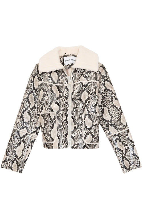 Maj Jacket in Natural Snake