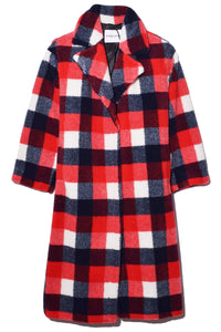 Maria Coat in Red/White/Navy