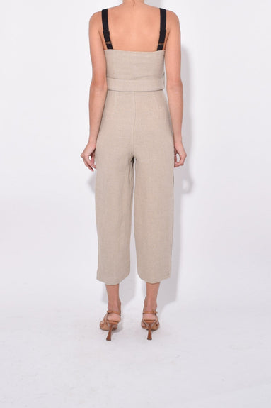 Lampone Jumpsuit in Natural/Black