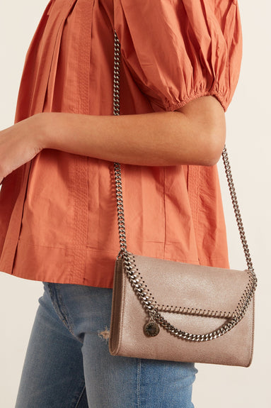 Falabella Mini Crossbody Bag in Ash Grey