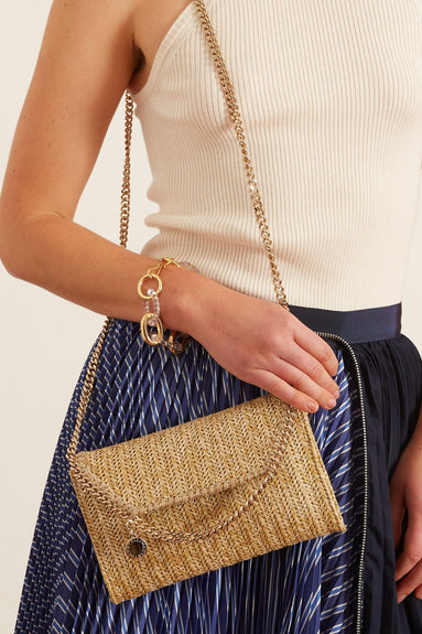 Falabella Mini Crossbody Bag in Metallic Gold