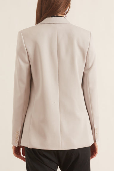 Lindsey Wool Twill Tailoring Jacket in Fog