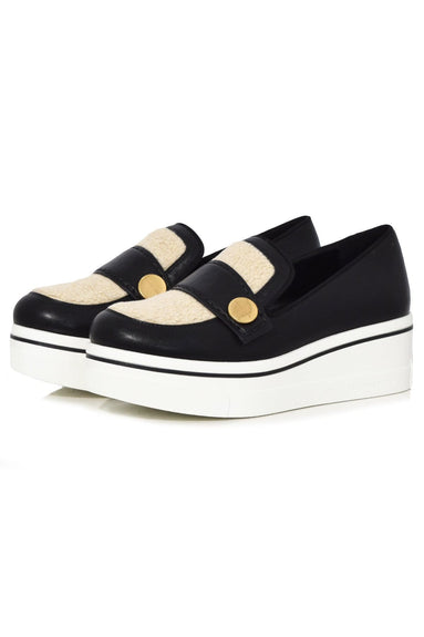 Binx Loafer in Black/Champagne