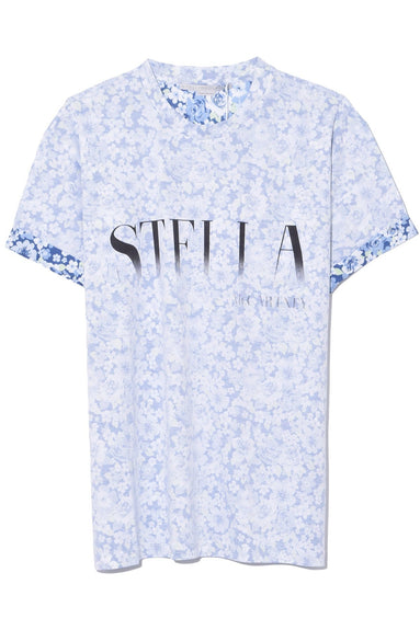 Ditsy Rint T-Shirt in Blue