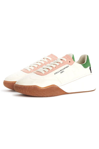 Fabric Sneaker in White/Cream/MR