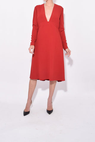 Long Sleeve Dress in Red Romance