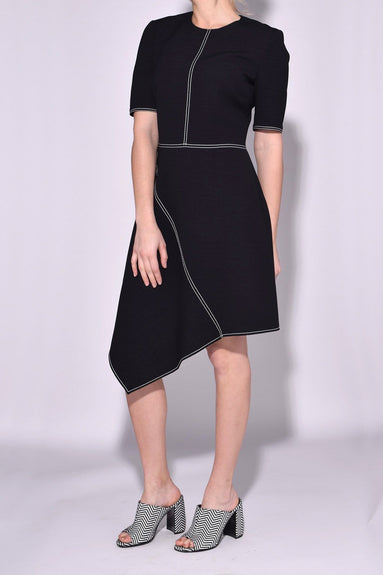Melina Dress in Black/Mistletoe